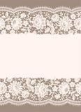Nahtloses Muster der weißen Spitzes Stockfotografie
