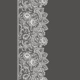 Nahtloses Muster der weißen Spitzes Stockfoto