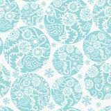Nahtloses Muster der Weihnachtsbälle im Blau Stockbild