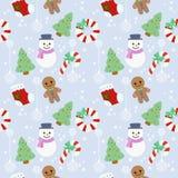 Nahtloses Muster der Weihnachtsikone lizenzfreie abbildung