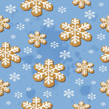Nahtloses Muster der Weihnachtsplätzchen Lizenzfreies Stockfoto