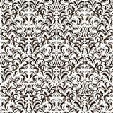 Nahtloses Muster der Weinlese auf weißem Hintergrund Stockbild