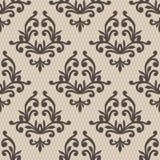 Nahtloses Muster der Weinlese Aufwändige mit Blumentapete Dunkler Vektor d Stockbilder
