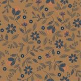 Nahtloses Muster der Weinlese-Stickerei mit schönem Vektordruck-Illustrationsentwurf der wilden Blumen empfindlichem für Mode, Ge vektor abbildung