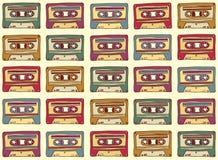 Nahtloses Muster in der Weinleseart Altes Audio Lizenzfreies Stockfoto