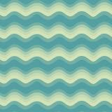 Nahtloses Muster der Welle Stock Abbildung