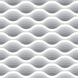 Nahtloses Muster der Welle Vector weißen Hintergrund von abstrakten Wellen in den greyscale Farben Lizenzfreie Stockbilder