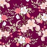 Nahtloses Muster der wilden Blumen Dieses ist Datei des Formats EPS10 stock abbildung