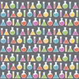 Nahtloses Muster der Wissenschaft Lizenzfreie Stockfotografie