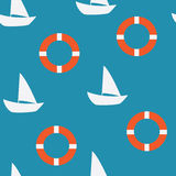 Nahtloses Muster der Yacht Lizenzfreie Stockbilder