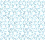 Nahtloses Muster der Zahnbürstenillustration blaue Farb Vektor Abbildung