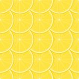 Nahtloses Muster der Zitrone Lizenzfreie Stockfotografie