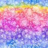 Nahtloses Muster des abstrakten Aquarells Lizenzfreies Stockfoto
