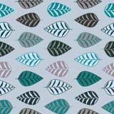 Nahtloses Muster des abstrakten Blattes lizenzfreie stockfotografie