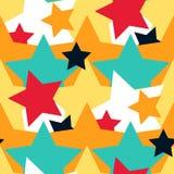 Nahtloses Muster des abstrakten bunten Vektors der Sterne dekorativen Stockfotografie