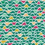 Nahtloses Muster des abstrakten Dreiecks Lizenzfreies Stockfoto