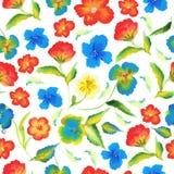 Nahtloses Muster des abstrakten Eleganzfrühlinges mit Watercolourblumenhintergrundvektor Stockbild