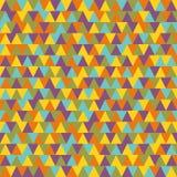 Nahtloses Muster des abstrakten geometrischen Dreiecks Stockfotos