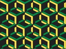 Nahtloses Muster des abstrakten geometrischen isometrischen Vektors stockbild