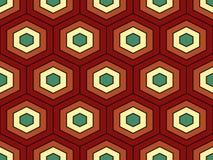 Nahtloses Muster des abstrakten geometrischen isometrischen Vektors stockfoto