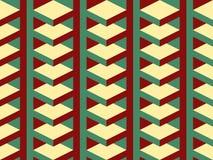 Nahtloses Muster des abstrakten geometrischen isometrischen Vektors stockbilder