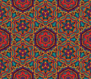 Nahtloses Muster des abstrakten geometrischen Mosaiks Lizenzfreie Stockfotos