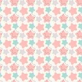 Nahtloses Muster des abstrakten geometrischen Retro- Sternes Lizenzfreie Stockfotografie