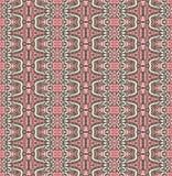Nahtloses Muster des abstrakten gestreiften dekorativen Motivs Stockbilder