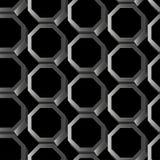 Nahtloses Muster des abstrakten Hexagons des Silbers 3D Lizenzfreie Stockfotos