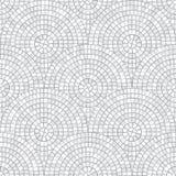 Nahtloses Muster des abstrakten Mosaiks Fragmente eines Kreises ausgebreitet von Fliesen trencadis Es kann für Leistung der Planu stock abbildung
