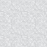 Nahtloses Muster des abstrakten Mosaiks Fragmente eines Kreises ausgebreitet von Fliesen trencadis Es kann für Leistung der Planu lizenzfreie abbildung