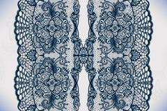 Nahtloses Muster des abstrakten Spitzebandes mit Elementen blüht Lizenzfreie Stockbilder