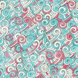 Nahtloses Muster des abstrakten Valentinsgrußes mit Schmutzeffekt Lizenzfreies Stockfoto