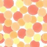 Nahtloses Muster des abstrakten Vektorkreises lizenzfreie abbildung