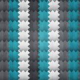 Nahtloses Muster des abstrakten Zickzacks mit Schmutzeffekt Lizenzfreies Stockfoto