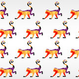 Nahtloses Muster des Affen Vektordreieckaffe Abstrakter Affe von geometrischen Formen Neues Jahr, Symbol von Stockfotografie