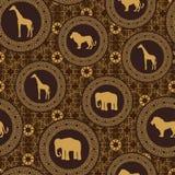 Nahtloses Muster des afrikanischen Zauntritts Lizenzfreie Stockfotos