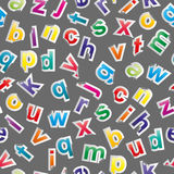 Nahtloses Muster des Alphabetes Lizenzfreie Stockfotografie