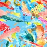 Nahtloses Muster des Aquarells Stockfotografie