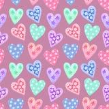 Nahtloses Muster des Aquarells für Valentinstag Stockfoto