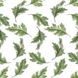 Nahtloses Muster des Aquarells mit Blättern Lizenzfreie Stockfotos
