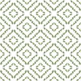 Nahtloses Muster des Aquarells mit Blättern Stockfotos