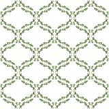 Nahtloses Muster des Aquarells mit Blättern Stockbilder