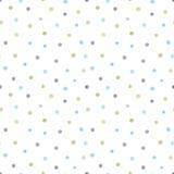 Nahtloses Muster des Aquarells mit gemalten Punkten Lizenzfreie Stockfotografie