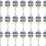 Nahtloses Muster des Aquarells mit Tipi auf Stockbild