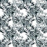 Nahtloses Muster des Aquarellvektors mit Lavendel Fokus auf Vordergrund watercolor Lizenzfreies Stockfoto