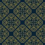 Nahtloses Muster des arabischen Designs der Weinlese dekorativen Stockfoto