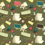Nahtloses Muster des Büros mit Nachrichten Lizenzfreie Stockfotos