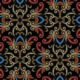 Nahtloses Muster des barocken Vektors der Stickerei   lizenzfreie abbildung