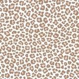 Nahtloses Muster des blassen Leoparden, Vektor lizenzfreie abbildung